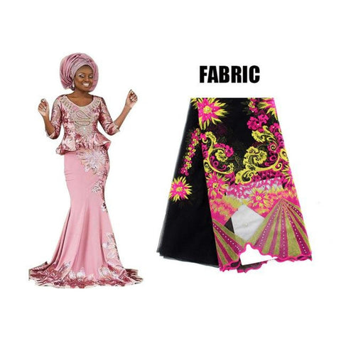 Special Discount: Bazin African Lace Embroidered Dresses For X31139
