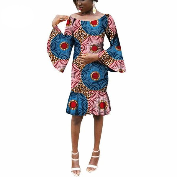 African Women Clothing Mini Mermaid Party Dresses African Bazin Riche X11102