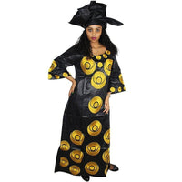 African Clothing For Women Dashiki Bazin Riche Embroidery Long Dress with X21255