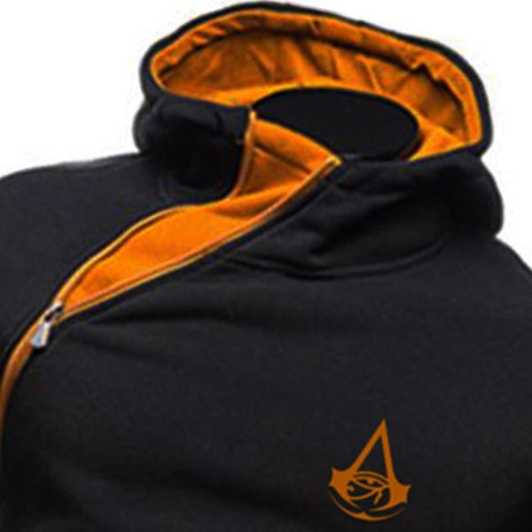 Assassins Creed Hoodie Jacket Men Oblique Side Zip Unity Syndicate X40240