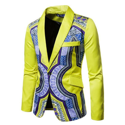 Ankara African wax Dashiki blazers for men Y10525