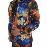H&d Men African Shirts Traditional Clothes Dashiki Bazin Riche Embroidery Long Sleeve Top Pant Set Afrikanische Herrenbekleidung