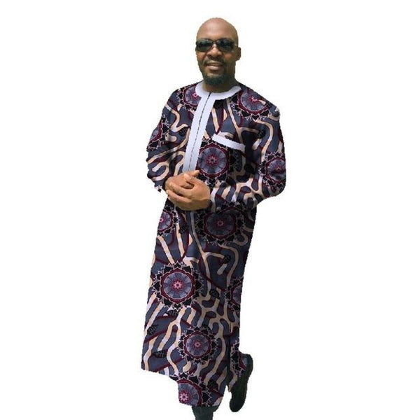 African Print Dashiki For Men Plus Size African Clothing Long Sleeve Y10850