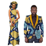African Clothing For Couples Dashiki Bazin Women Dress Mens  V11687