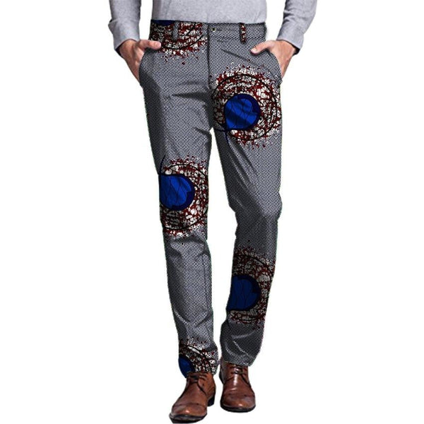 Casual African Cotton Print Pants Trousers Festive Pattern Dashiki For Y11122
