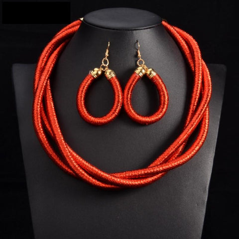 Color Wind Handmade Statement Choker Necklace Pendant Ethnic  Q50213