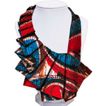 African Lady Fashion False Collar Detachable Colorful Dashiki Wax Ankara Q11757