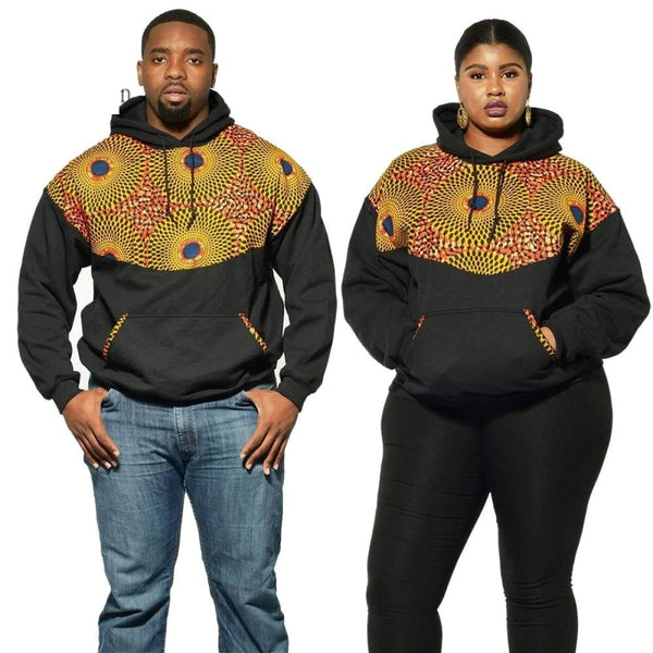 Unisex Ankara African Print Patchwork Sweatshirt for men and V11656