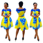African Style Dress Women Rushed Top Polyester Milk Night Dress Knee X11093