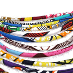 Ankara Multi Strand Handmade Necklace African Bold Colorful Long Exotic Q11754