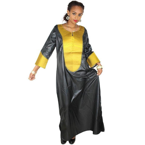 African Dress For Women Embroidered Soft Material Long Caftan X21157