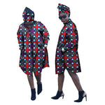 Dashiki Long Sleeve African Ankara Wax Coat for Women X10427