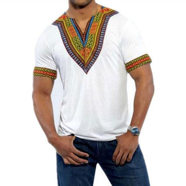 African Men Short Sleeve Top Clothing Hipster Hip-Hop Dashiki T-Shirt Y10555