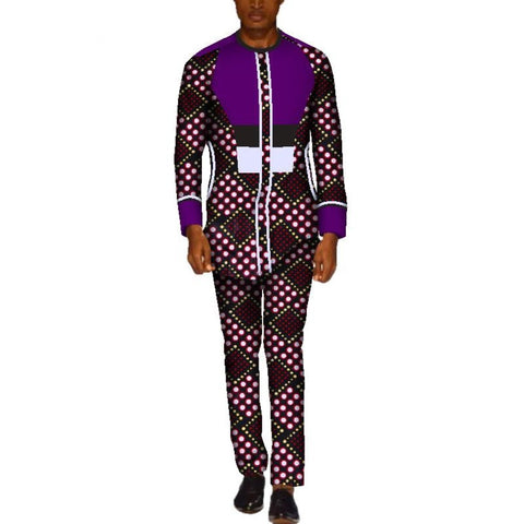 Bazin Riche African Wax Shirt and Pants Sets for Y10808