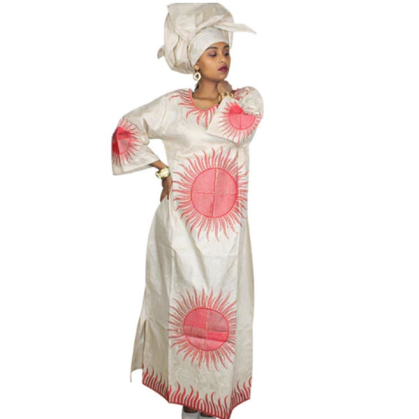 African Clothing For Women Dashiki Bazin Riche Embroidery Design Dress X21254