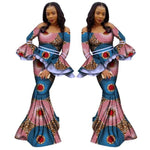 African Style Top with Long Skirt For Women Cotton Print Ankara with X10994