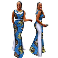 New Bazin Riche African Dress Woman O Neck Mermaid D X11448