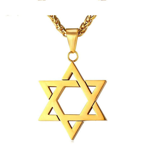 Jewish Magen Star Of David Necklace Men/Women Bat Mitzvah Gift Israel Q50127