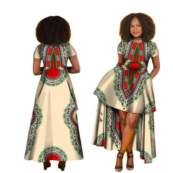 African Dresses For Women O-Neck Dashiki Long Clothing Robe Africaine X11431