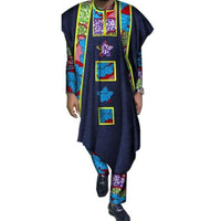 Traditional African Bazin Print Long Sleeve Shirt Robe and  Y10798