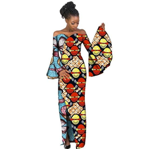 African Women Styles Clothing Dashiki Riche Bazin Straight 100% Cotton X11425