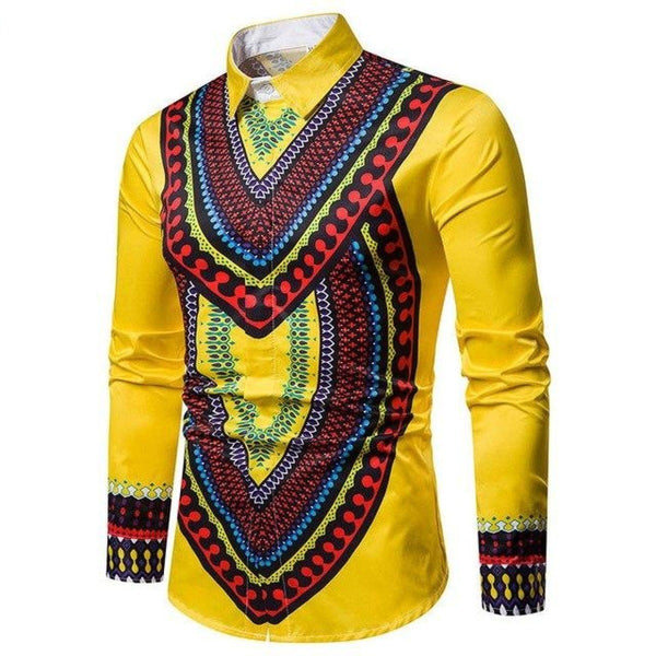 African Hip Hop Dress Shirt Casual 3D Printed Dashiki Robe Africaine Y10477