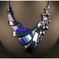 Famous Brand 2 Pieces Statement Necklace + Earrings Girl High  Q50208