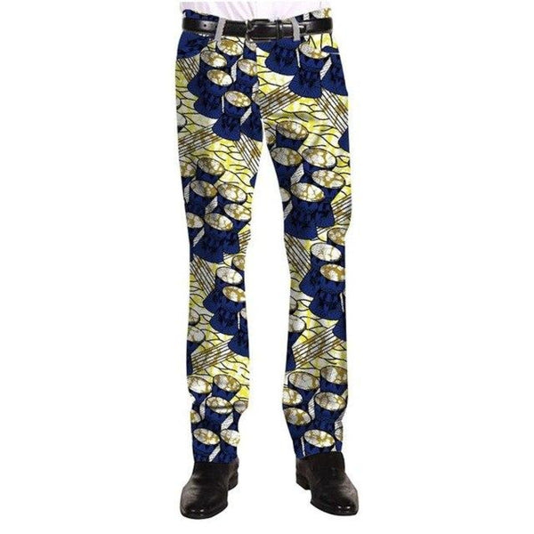Casual African Cotton Print Pants Trousers Festive Pattern Customized For Y11121