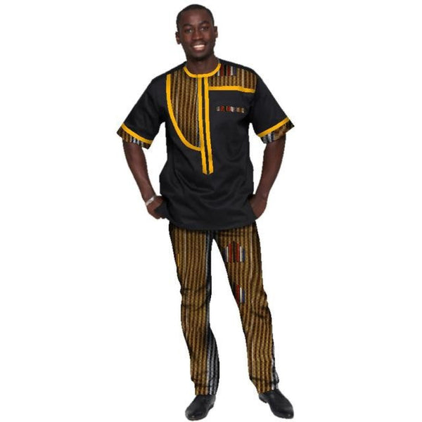 African Men Clothing Sportsmen 2 Pieces Plus Y10847