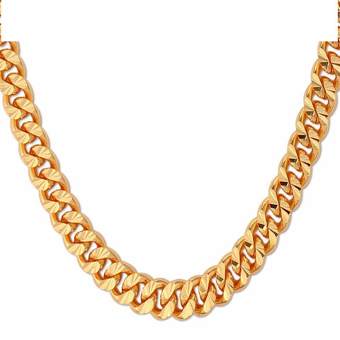 Curb Chain Necklace Hollow Miami Cuban Link Chain For Men Gift 6Mm Q50134