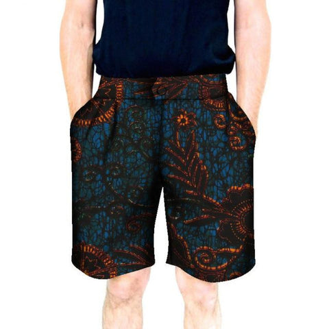 Men Short Pants African Trousers Fashion Print Dashiki Cotton Print Y11069
