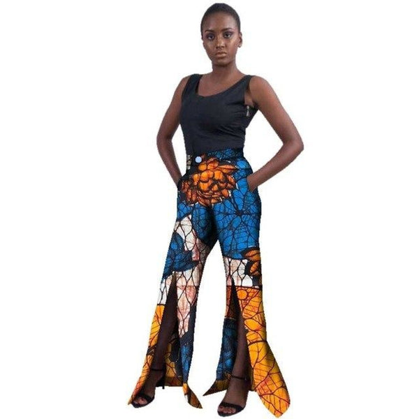 Traditional African Wax Print Split Pants for X11120