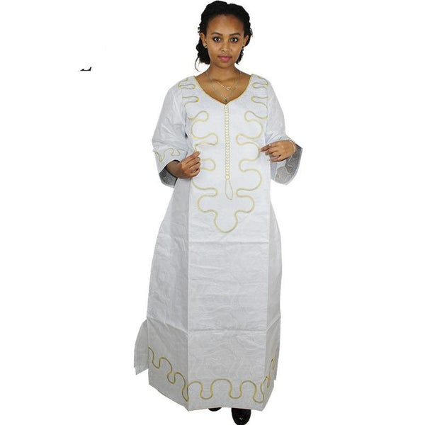 african dresses for women white bazin riche mbroidery X21190