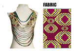 African Ankara Necklaces Wax Print Fabric Colorful Necklace Shawl Tribal Q11770