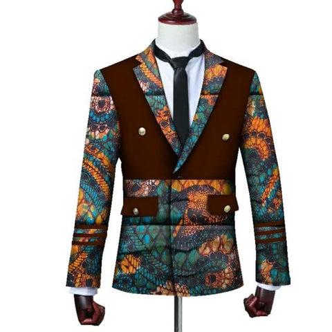 Brw 2017 African Jacket For Men Long Sleeve Top Mens Clothing Dashiki Print Blazer Outfits Wyn3444 2