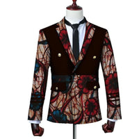 Brw 2017 African Jacket For Men Long Sleeve Top Mens Clothing Dashiki Print Blazer Outfits Wyn3444