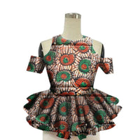 Brw 2017 African Women Shirt Fashion Strapless Tops Flower Puff Hem Designs Womens Shirts Women African Clothing Wy13922