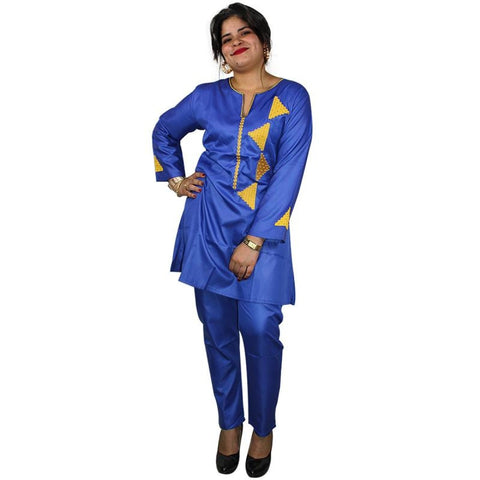 Free Shipping African Clothing For Women 2018 Fashion Design Shirt With Pants