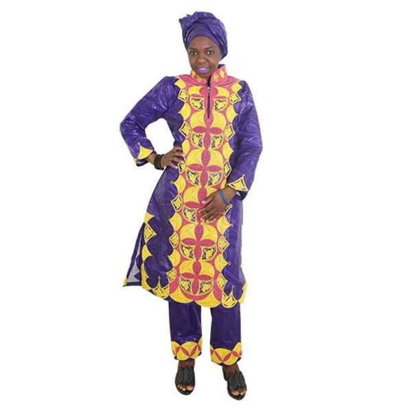 H&d 2017 African Dresses For Women Clothes 100% Cotton Bazin Embroidery Scarfs Headwraps Tops Pants Suits Dashiki Dress For Lady