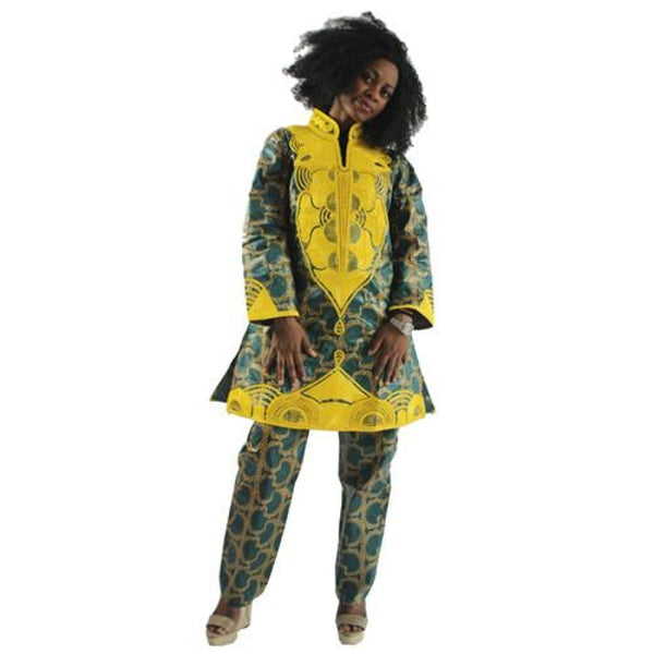 H&d 2017 New Design African Pants Suit Bazin Riche For Women Traditional Embroidery Craft High-End