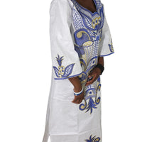 H&d 2018 African Dashiki Clothes Embroidery Africaine Rope Cotton 100% Africa Clothing For Women Bazin Riche Dress Head Wraps