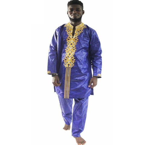 H&d African Clothes Dashiki Traditional Mens Clothing Long Sleeves Bazin Riche Men Africa Dress Tops