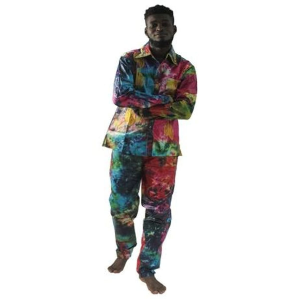 H&d All African Dashiki Man Shirt With Trousermen African Traditional Clothes Bazin Riche Embroidery Two Piece Set Afrikanische - Picture