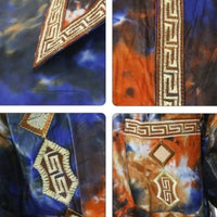 H&d Men African Shirts Traditional Clothes Dashiki Bazin Riche Embroidery Long Sleeve Top Pant Set