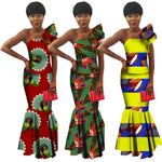 African Style Top and Long Skirt 2-Piece Women Cotton Print Kitenge X11062