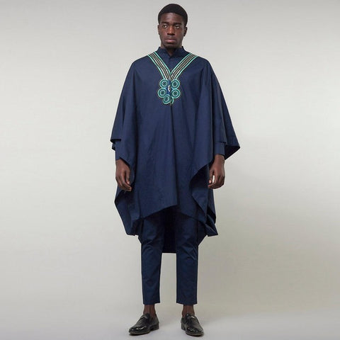 African Men Clothing 3-Piece Dashiki Agabda Boubou Bazin Riche Y31940