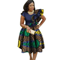 African Cotton Dashiki Wax Print Summer Dress for Women X11935
