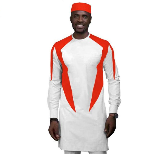African Clothing for Men Long Sleeve 2-Piece Set Senator Style Y31861