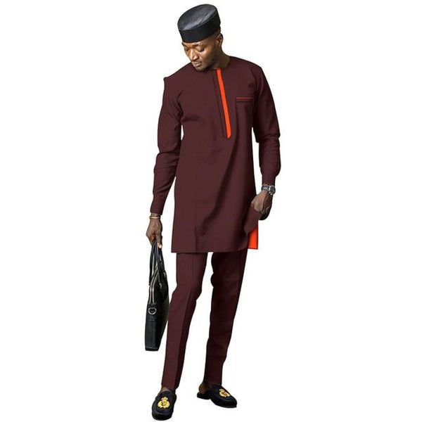 African Men Dashiki 2-piece Senator Clothing Set for Men Y31831