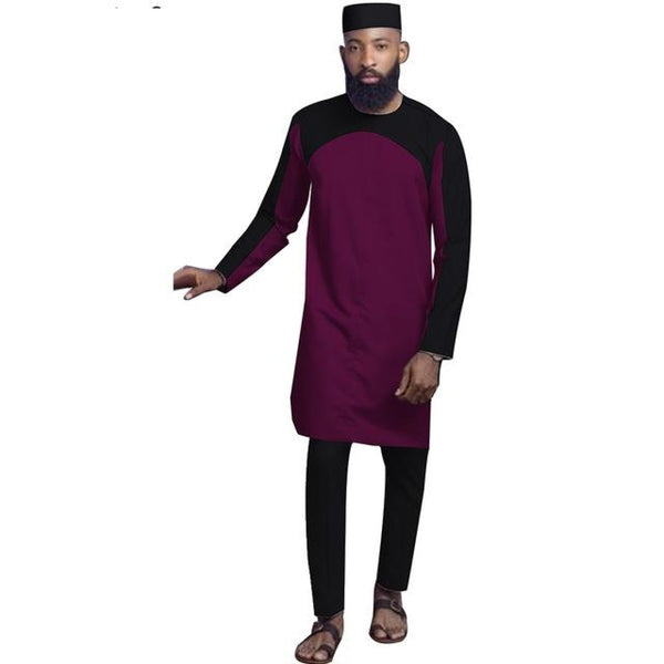 African Men Dashiki 2-piece Senator Clothing Set for Men Y31827